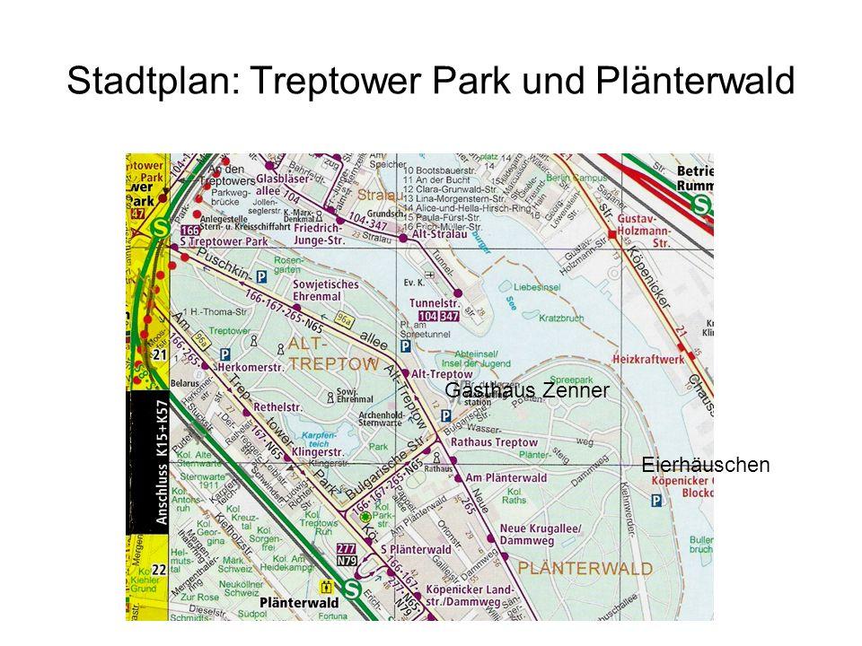 Stadtplan: Treptower Park und Plänterwald