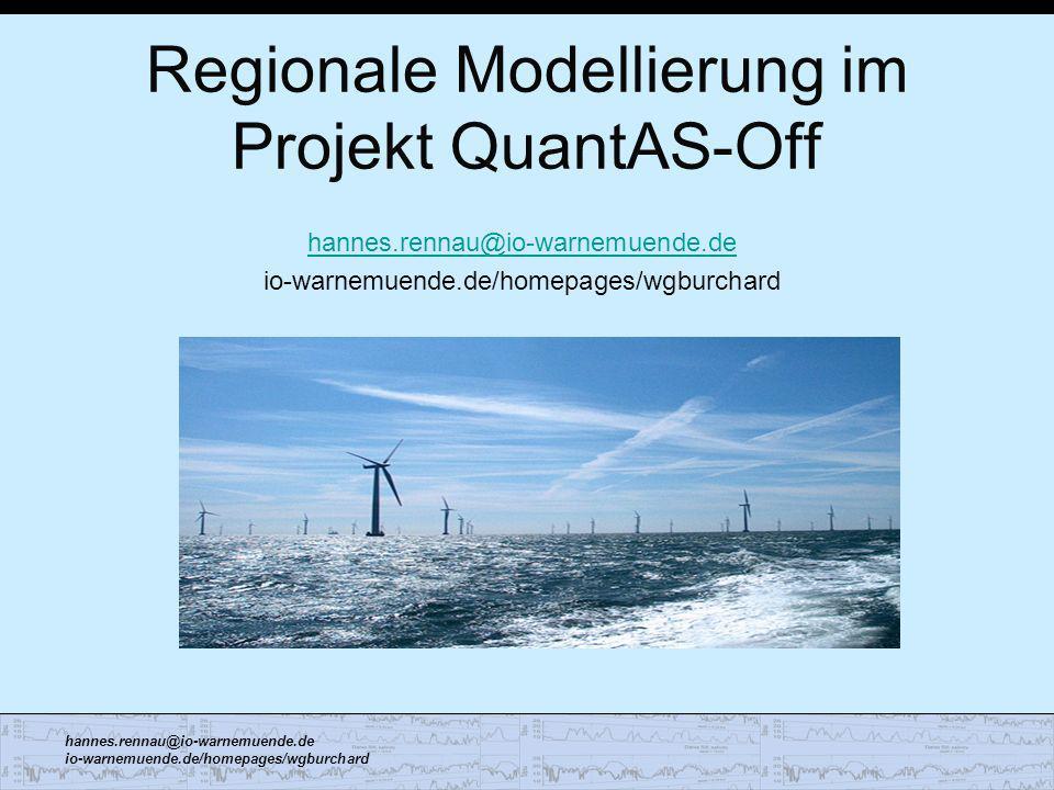 Regionale Modellierung im Projekt QuantAS-Off