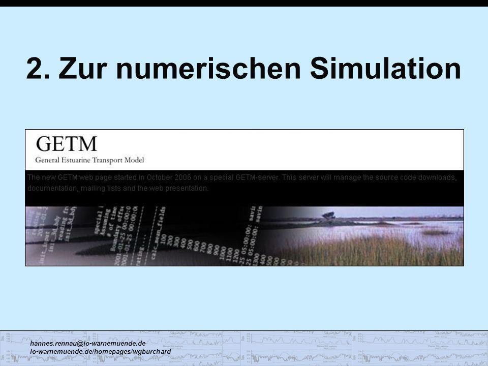 2. Zur numerischen Simulation