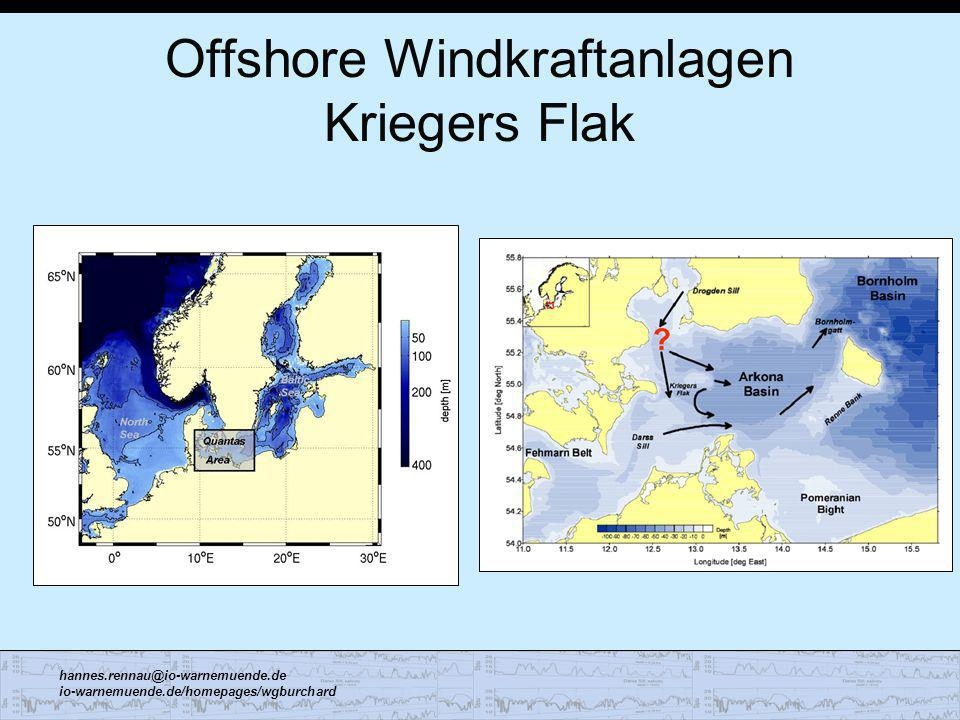 Offshore Windkraftanlagen Kriegers Flak