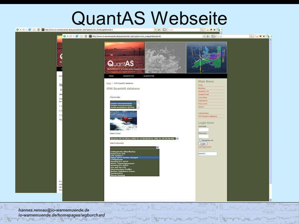 QuantAS Webseite
