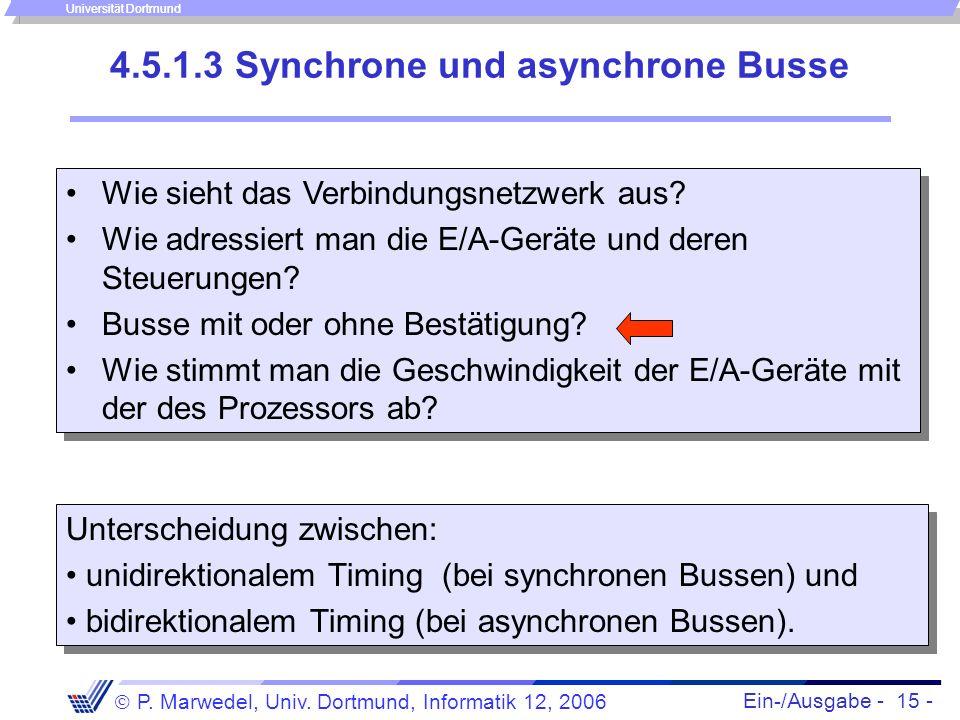 4.5.1.3 Synchrone und asynchrone Busse