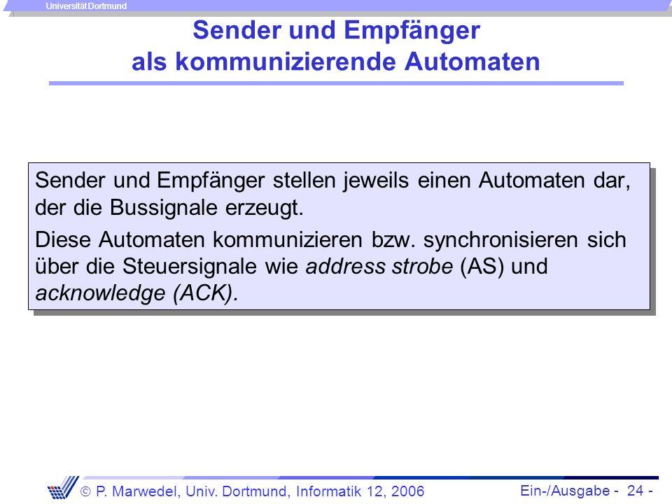 Sender und Empfänger als kommunizierende Automaten
