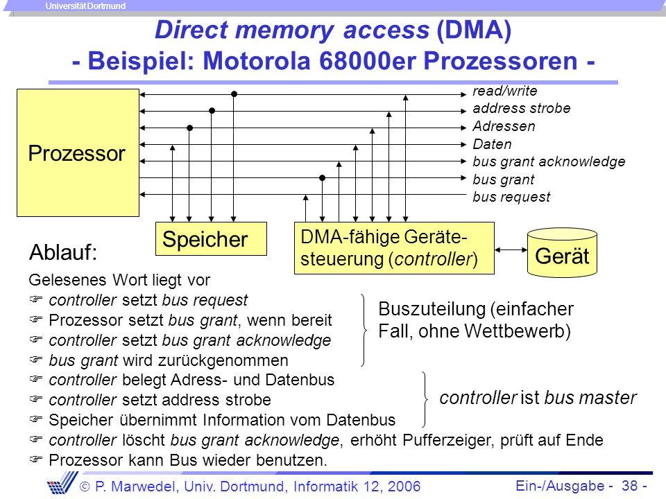 Direct memory access (DMA) - Beispiel: Motorola 68000er Prozessoren -