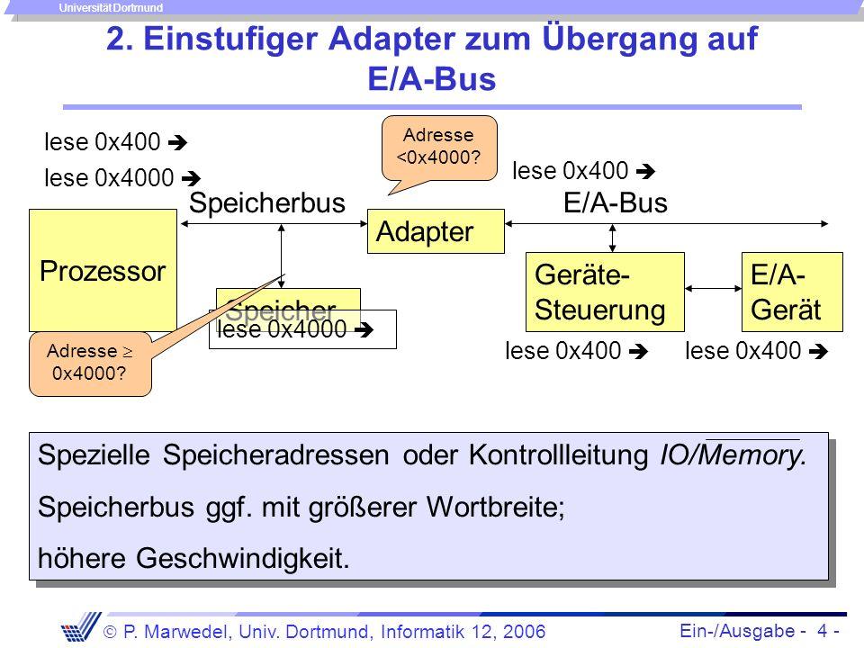2. Einstufiger Adapter zum Übergang auf E/A-Bus