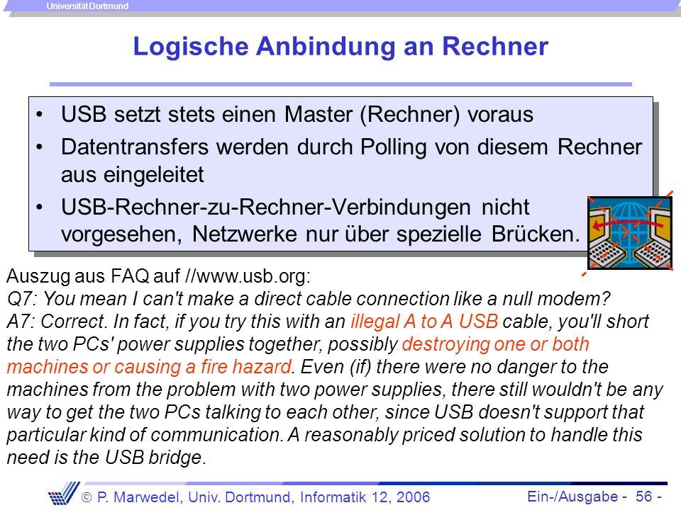Logische Anbindung an Rechner