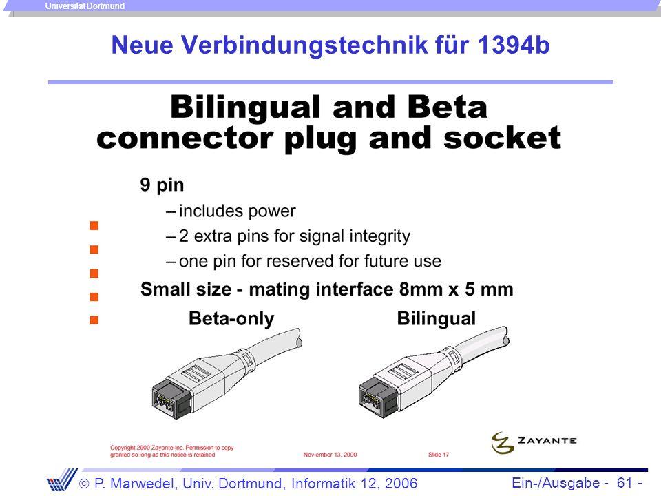 Neue Verbindungstechnik für 1394b