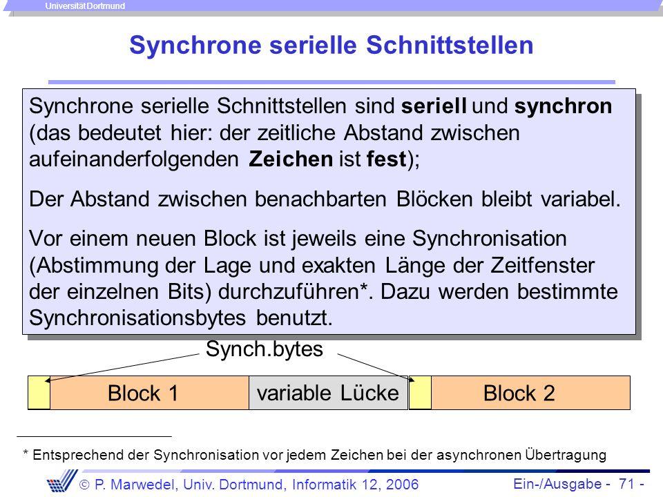 Synchrone serielle Schnittstellen