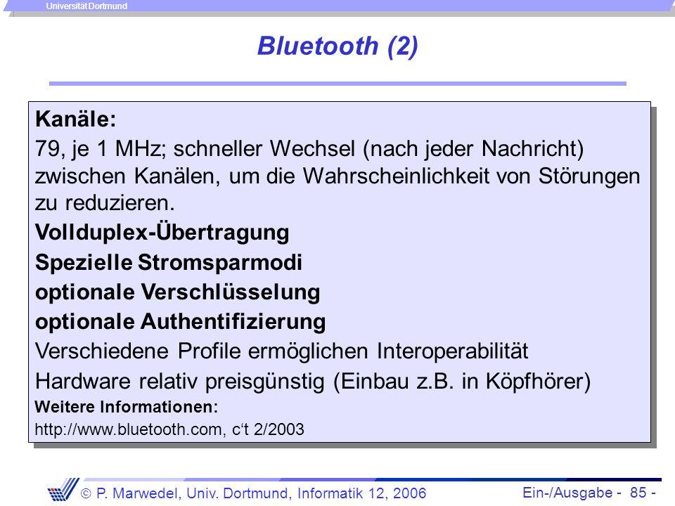 Bluetooth (2) Kanäle: