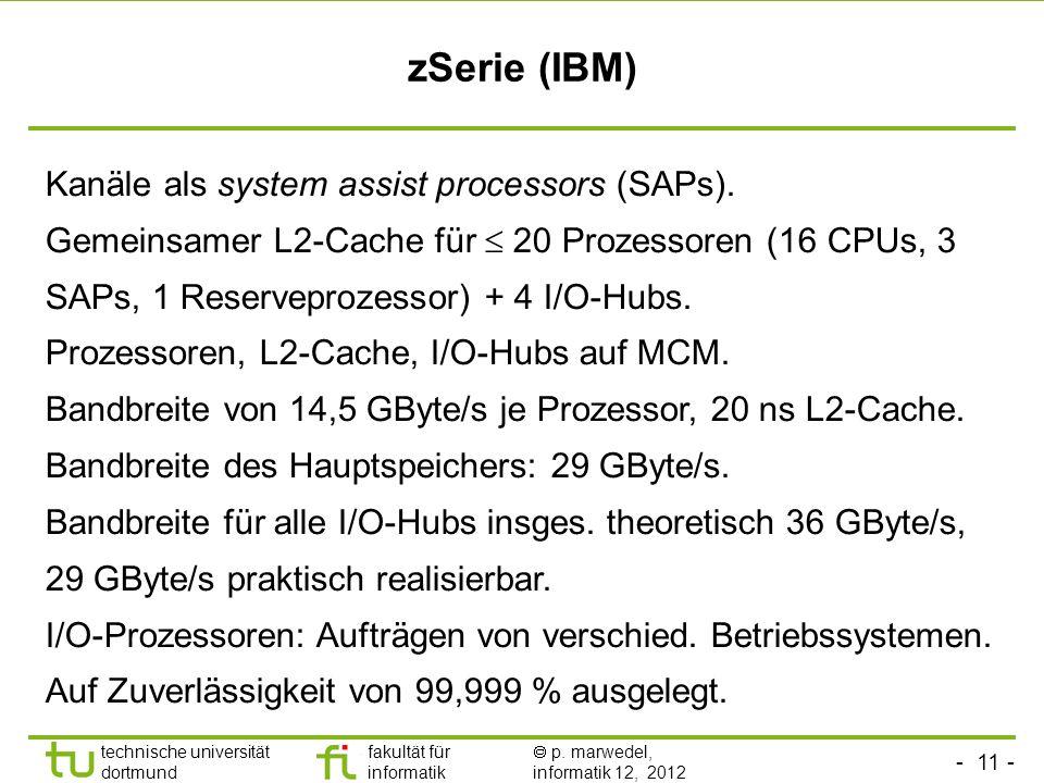 zSerie (IBM) Kanäle als system assist processors (SAPs).