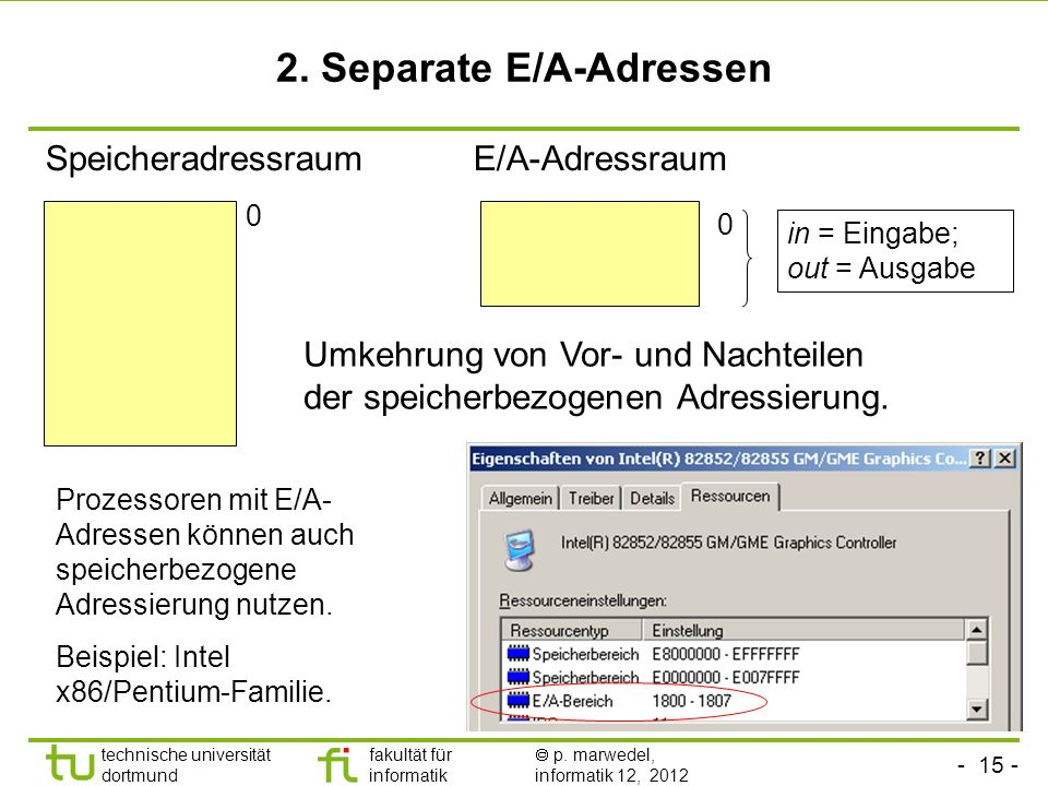 2. Separate E/A-Adressen