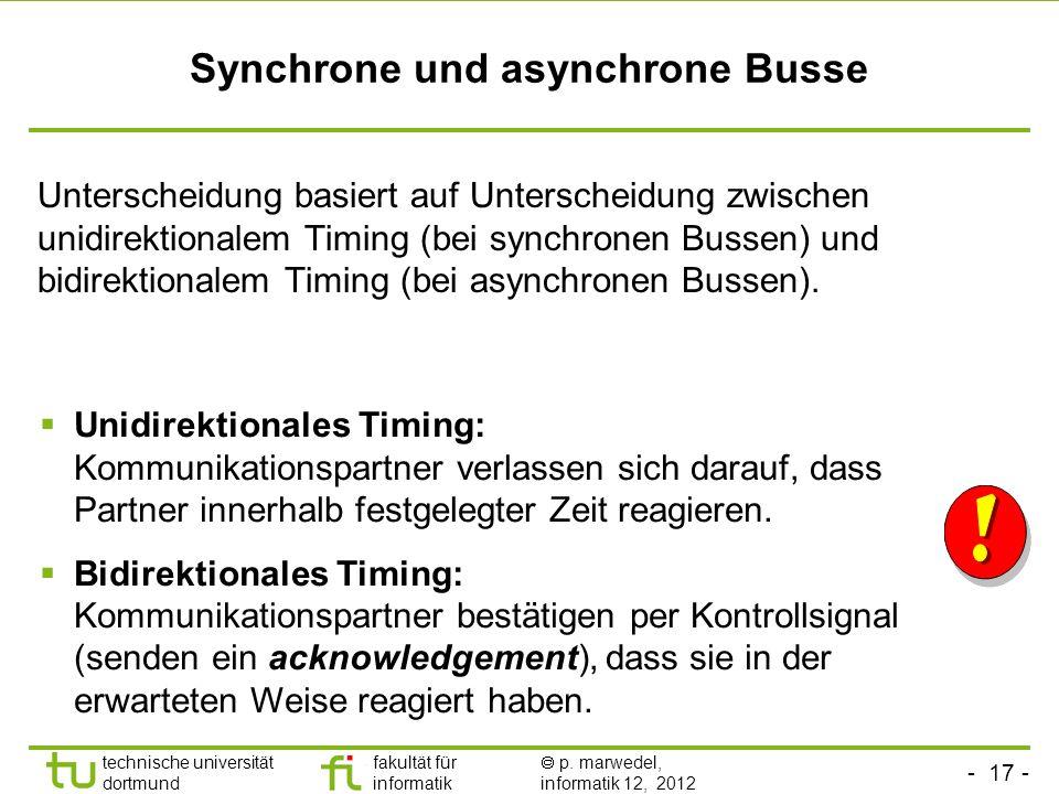 Synchrone und asynchrone Busse