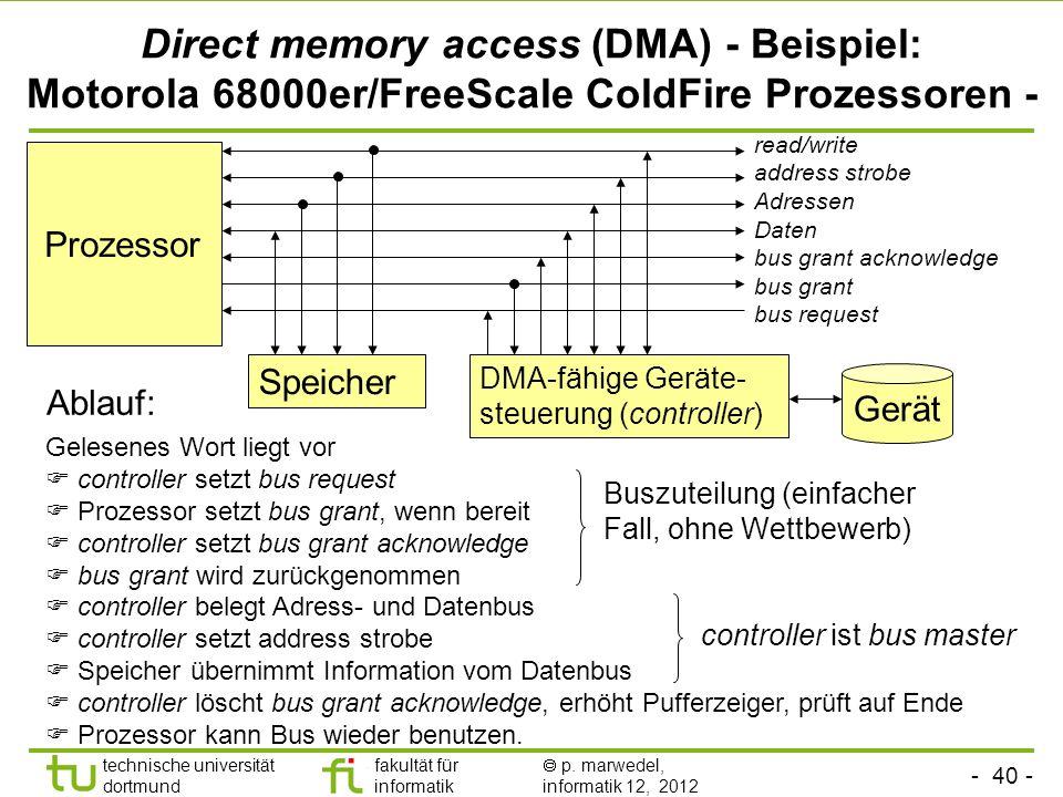Direct memory access (DMA) - Beispiel: Motorola 68000er/FreeScale ColdFire Prozessoren -