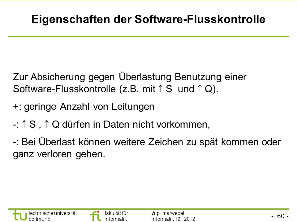 Eigenschaften der Software-Flusskontrolle