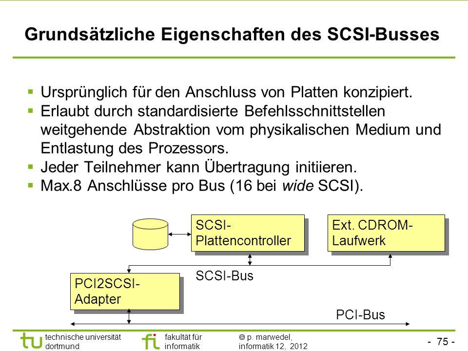 Grundsätzliche Eigenschaften des SCSI-Busses