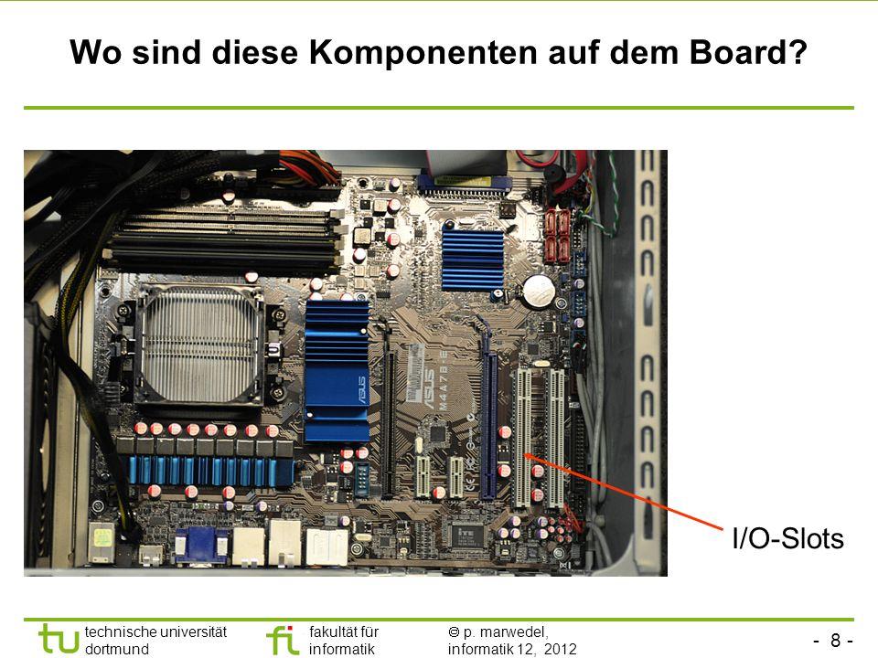 Wo sind diese Komponenten auf dem Board