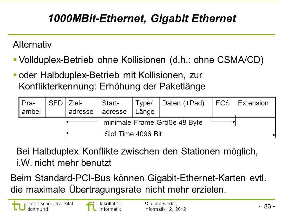 1000MBit-Ethernet, Gigabit Ethernet
