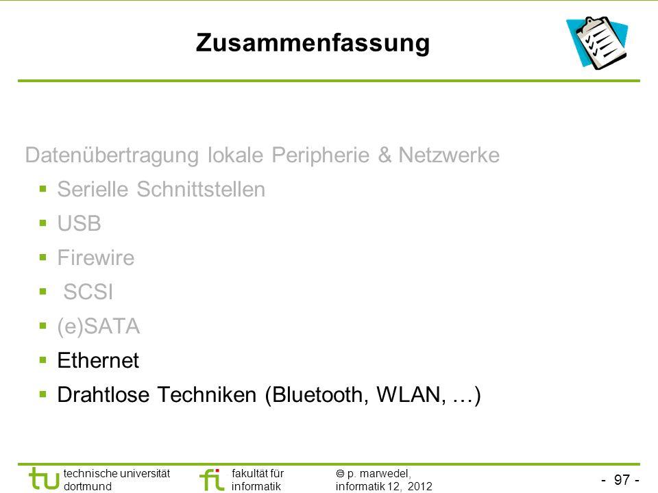 Zusammenfassung Datenübertragung lokale Peripherie & Netzwerke