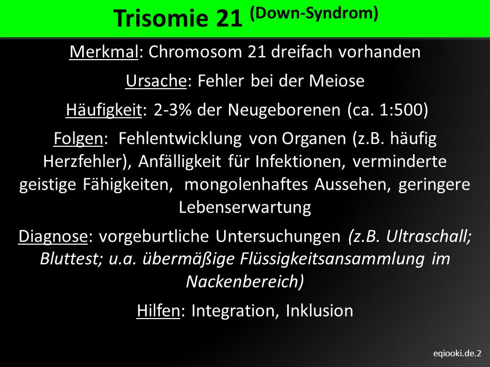 Trisomie 21 (Down-Syndrom)