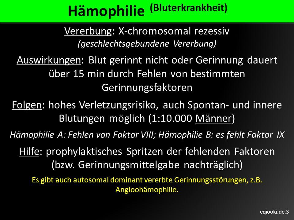 Hämophilie (Bluterkrankheit)