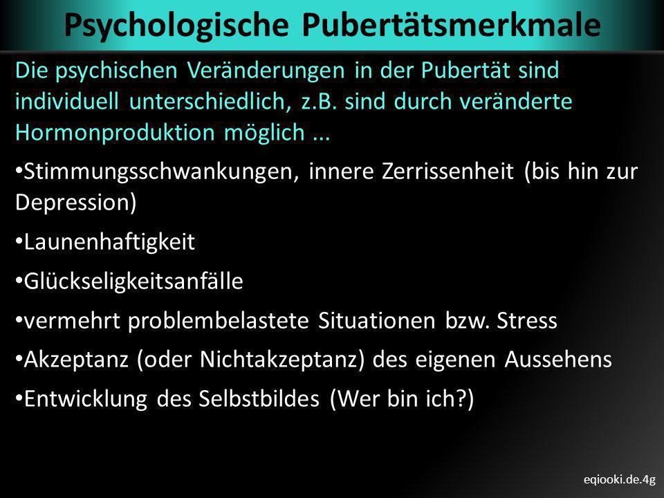 Psychologische Pubertätsmerkmale
