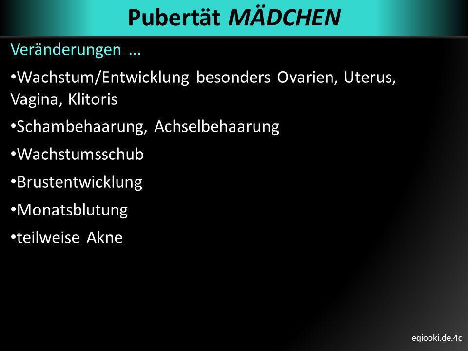 Pubertät MÄDCHEN Veränderungen ...