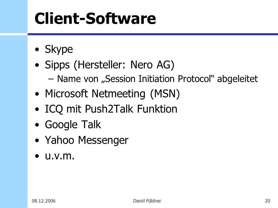 Client-Software Skype Sipps (Hersteller: Nero AG)