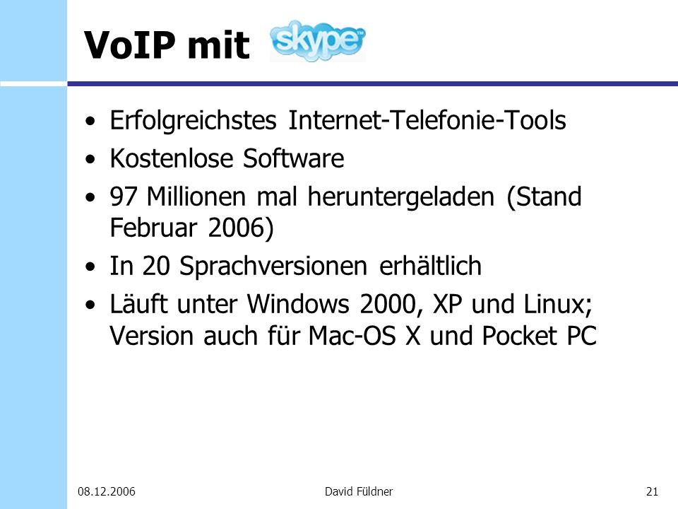 VoIP mit Erfolgreichstes Internet-Telefonie-Tools Kostenlose Software