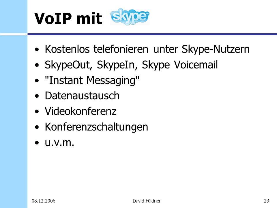 VoIP mit Kostenlos telefonieren unter Skype-Nutzern