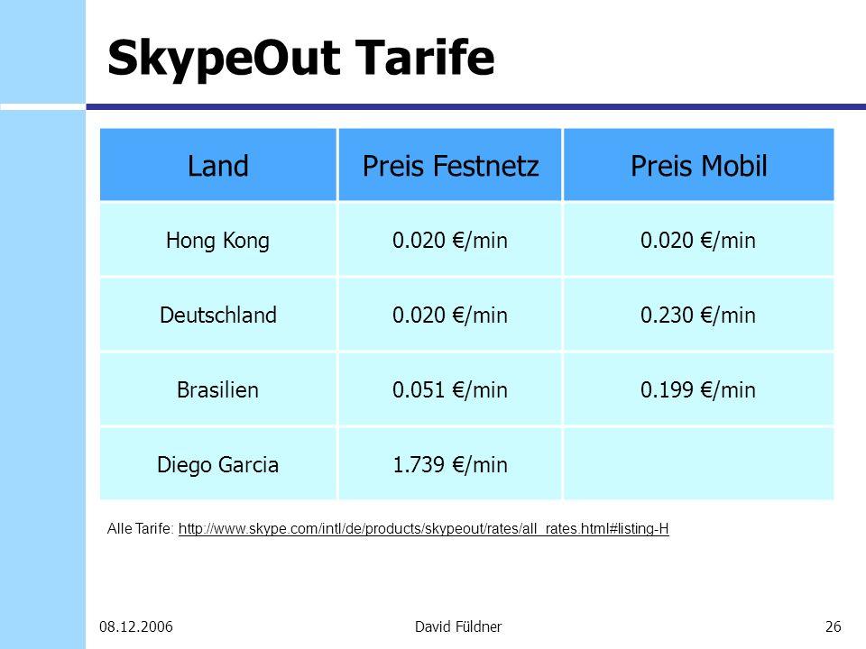 SkypeOut Tarife Land Preis Festnetz Preis Mobil Hong Kong 0.020 €/min