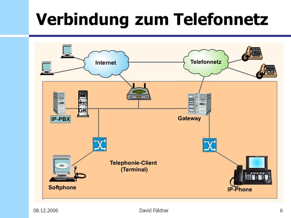 Verbindung zum Telefonnetz