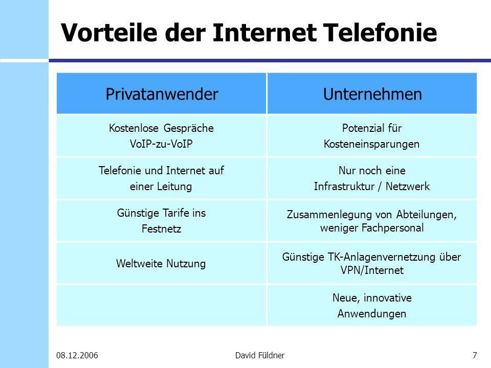 Vorteile der Internet Telefonie