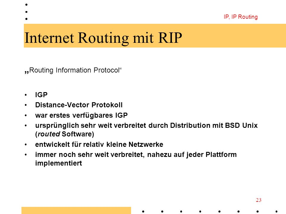 Internet Routing mit RIP