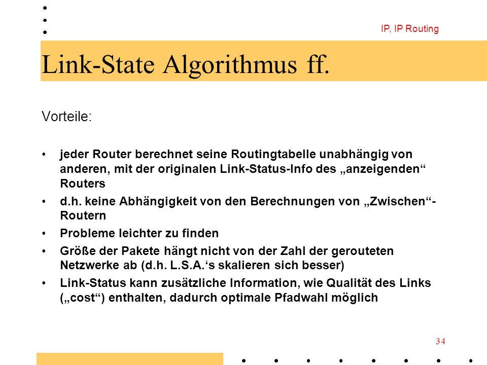 Link-State Algorithmus ff.