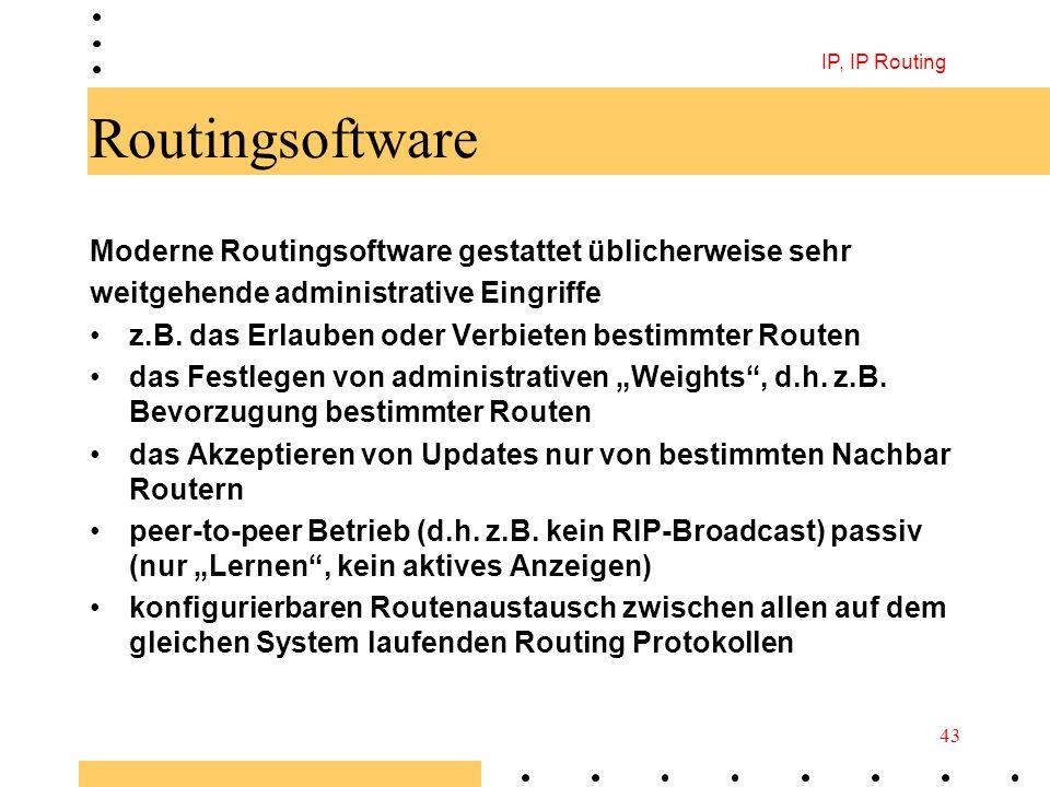 Routingsoftware Moderne Routingsoftware gestattet üblicherweise sehr