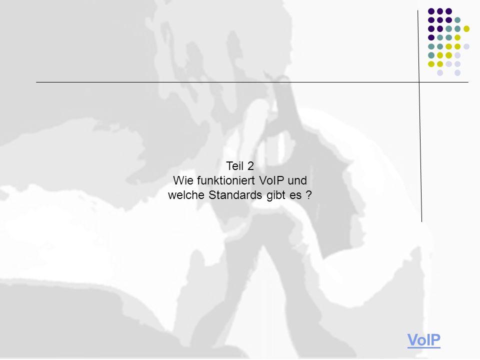 Teil 2 Wie funktioniert VoIP und welche Standards gibt es VoIP