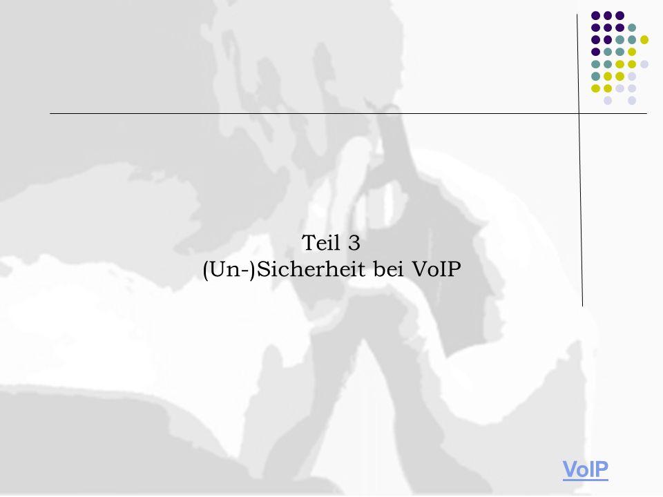 (Un-)Sicherheit bei VoIP