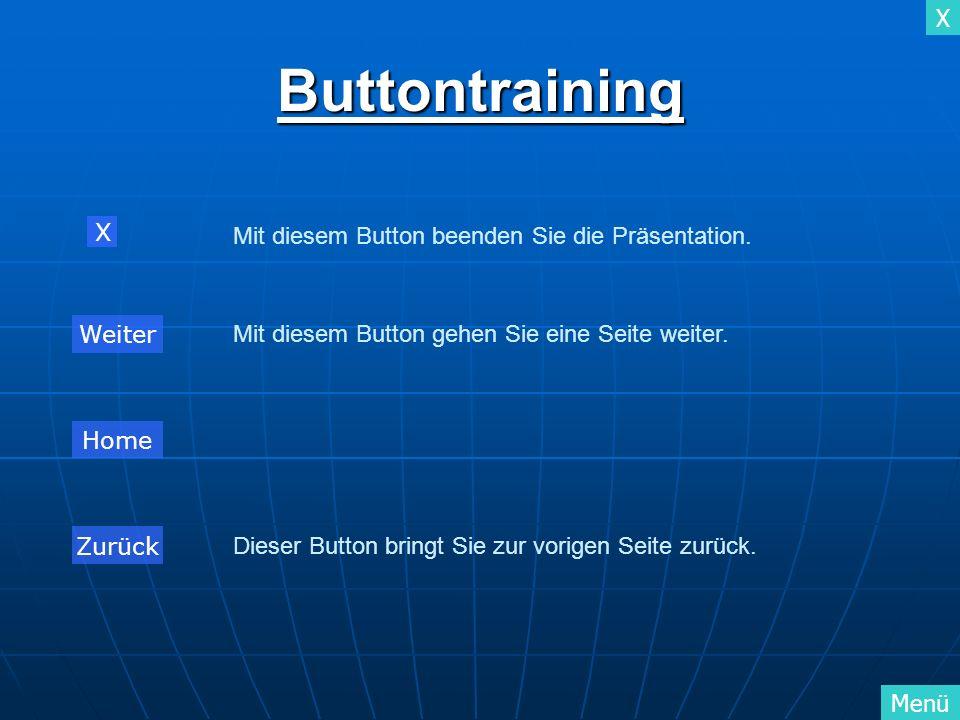 Buttontraining X Mit diesem Button beenden Sie die Präsentation.