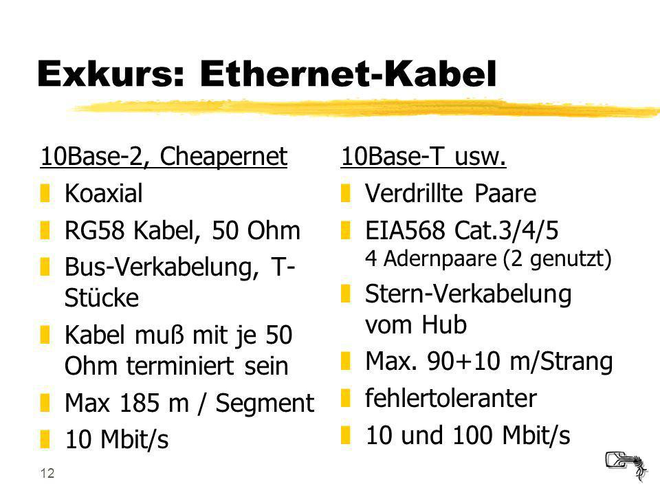 Exkurs: Ethernet-Kabel