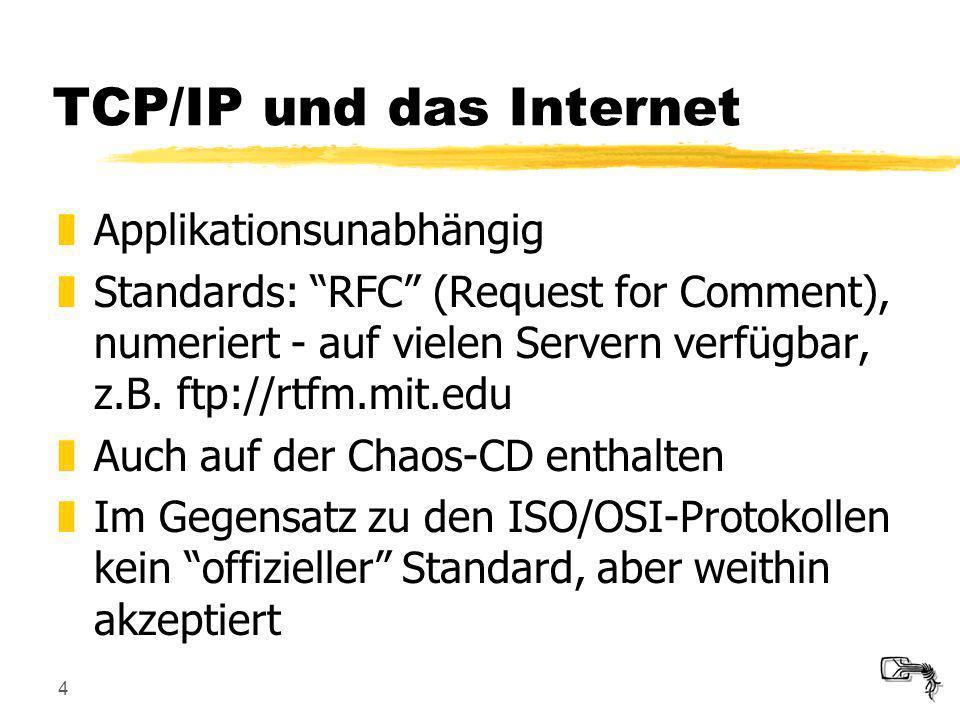 TCP/IP und das Internet