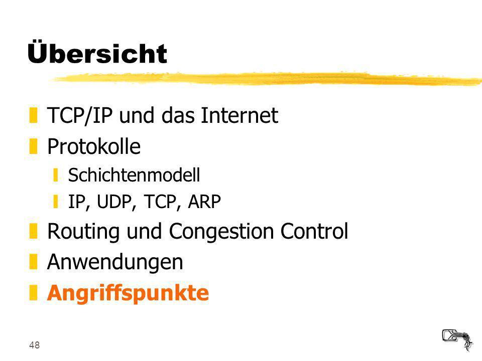 Übersicht TCP/IP und das Internet Protokolle