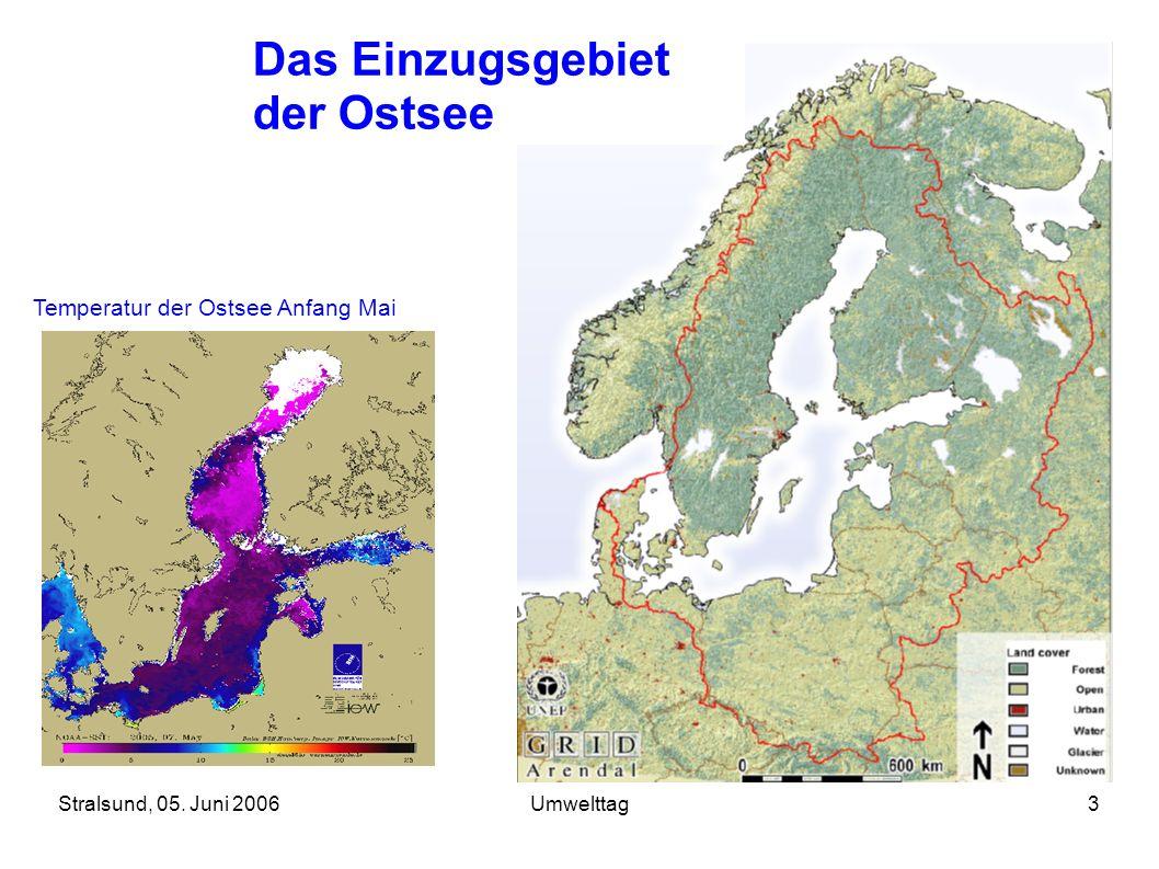 Das Einzugsgebiet der Ostsee Temperatur der Ostsee Anfang Mai