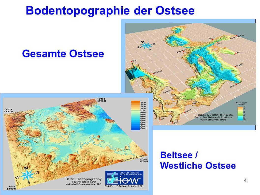 Bodentopographie der Ostsee