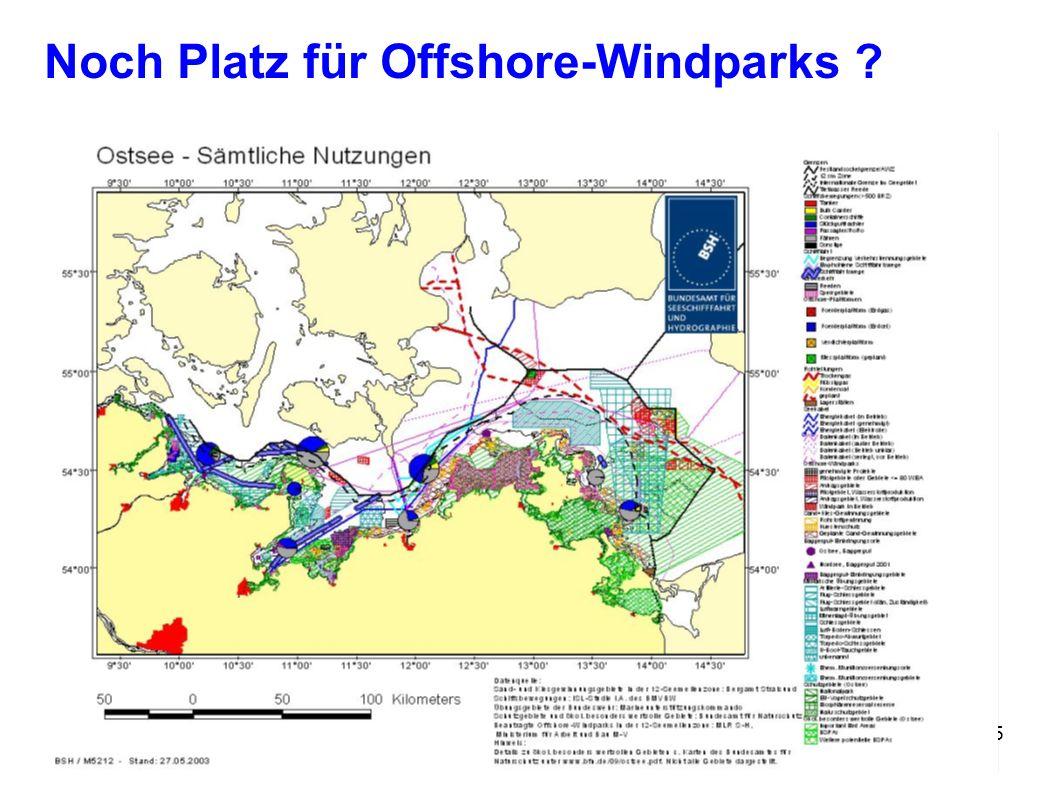 Noch Platz für Offshore-Windparks