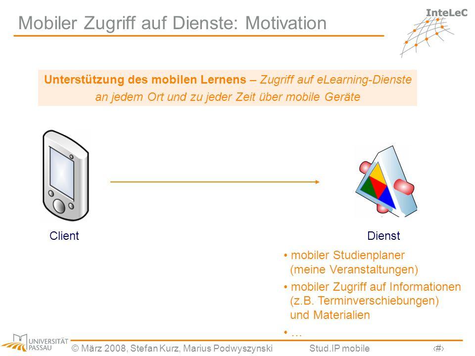 Mobiler Zugriff auf Dienste: Motivation