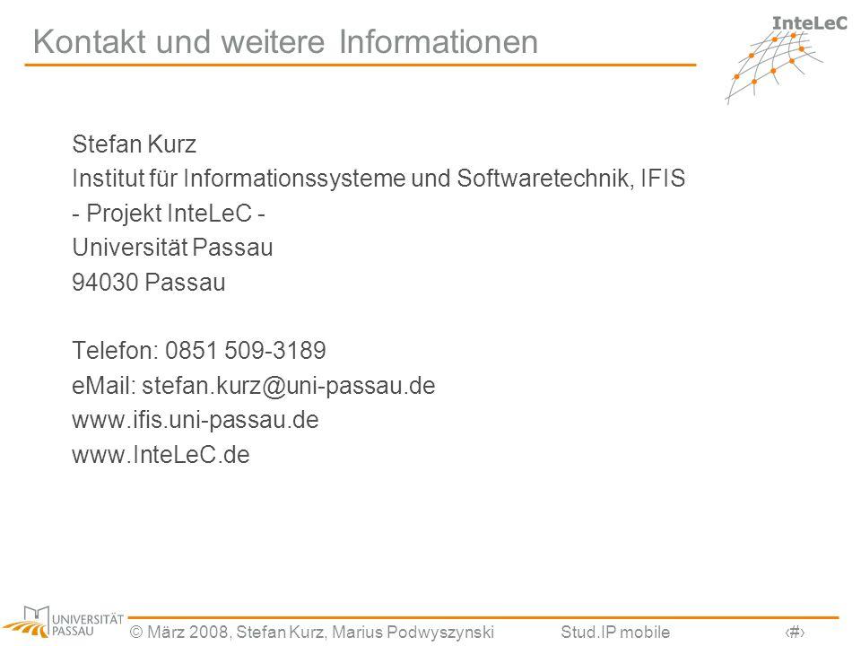 Kontakt und weitere Informationen