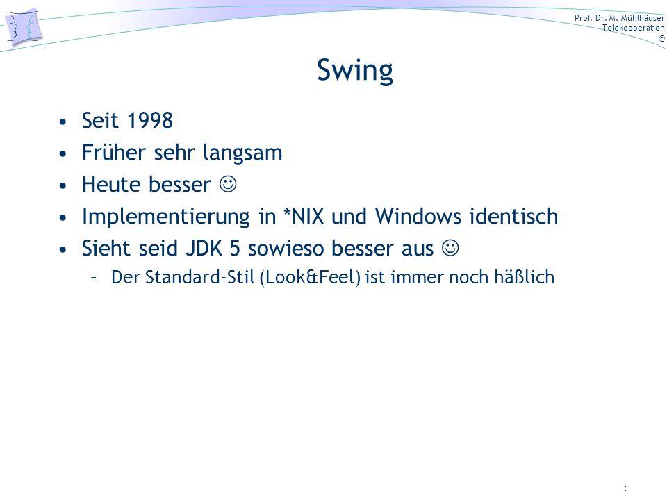 Swing Seit 1998 Früher sehr langsam Heute besser 
