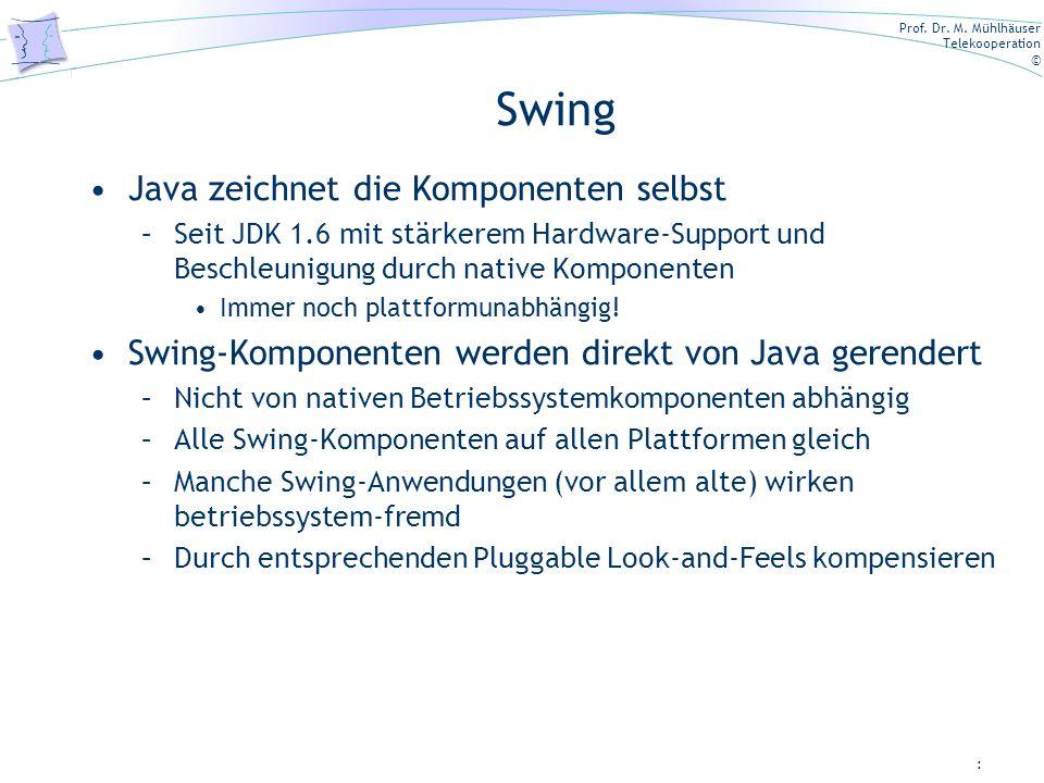 Swing Java zeichnet die Komponenten selbst