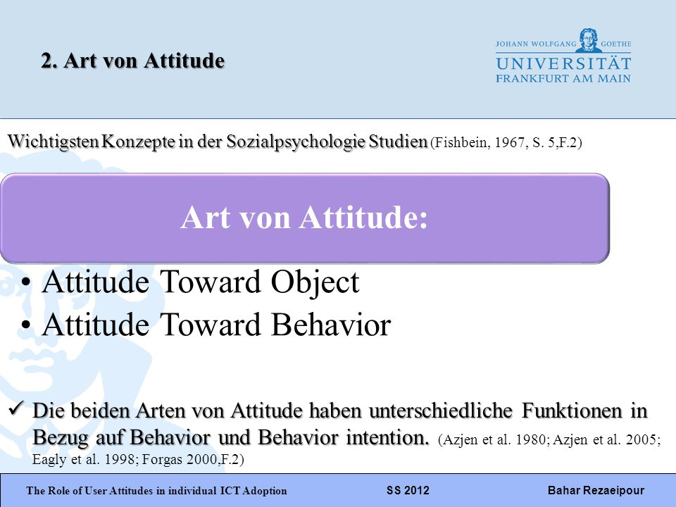 Attitude Toward Object Attitude Toward Behavior