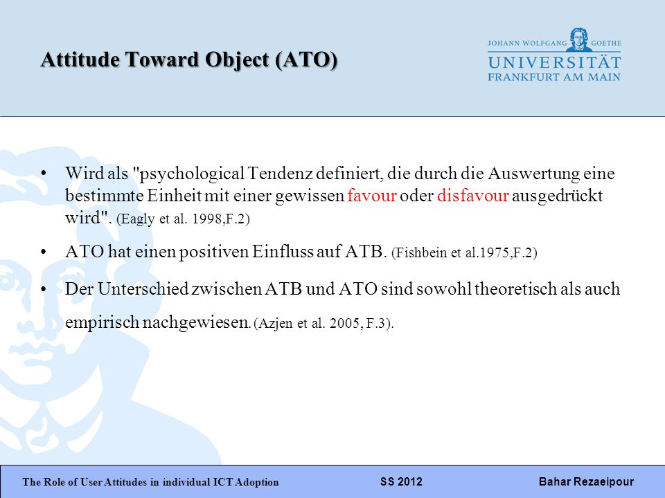 Attitude Toward Object (ATO)